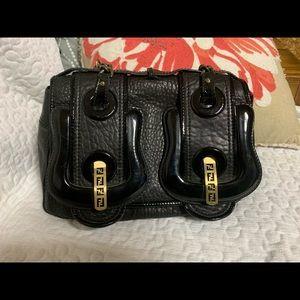 Fendi B Bag in Black Napa Leather